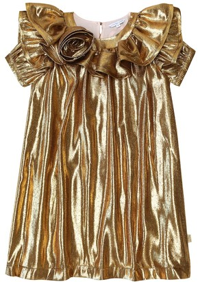 Marc Jacobs Metallic silk-blend dress