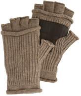 Original Penguin Men's Mixed Rib Fingerless Gloves