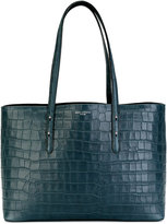 Aspinal of London Regent nubuck crocodile tote - women - Calf Leather - One Size