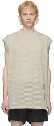 Rick Owens Off-White Champion Edition Mesh Sleeveless T-Shirt