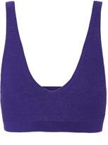 Cushnie et Ochs Ribbed stretch-knit bra top