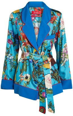 F.R.S For Restless Sleepers Floral Print Tie-Waist Jacket