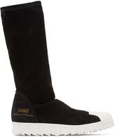 Rick Owens Black Superstar Ripple Adidas By Sneakers