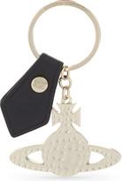 Vivienne Westwood Beaten metal orb key ring