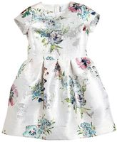 Simonetta Floral Brocade Satin Party Dress
