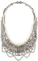 Tom Binns Pearl & Scalloped Crystal Collar Necklace