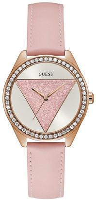 GUESS W0884L6 Tri Glitz Rose Gold Watch