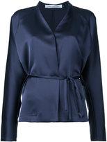 CHRISTOPHER ESBER wrap blouse - women - Polyester - 6