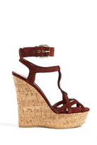 Burberry Shoes & Stour Suede Wedge Sandals