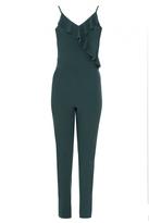 Quiz Green Frill V Neck Jumpsuit
