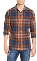 Original Penguin Men's P55 Trim Fit Plaid Woven Shirt