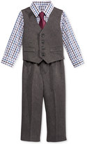 Nautica Baby Boys' 4-Pc. Plaid Shirt, Herringbone Vest, Pants & Tie Set