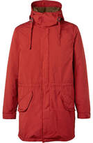 Aspesi Faux Shearling-lined Shell Hooded Parka - Red
