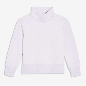 Joe Fresh Kid Girls' Turtleneck Pullover, Light Purple (Size L)