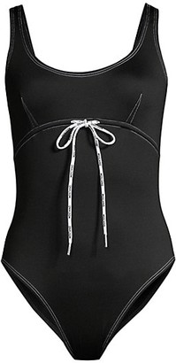Moschino Lace-Up One-Piece Swimsuit