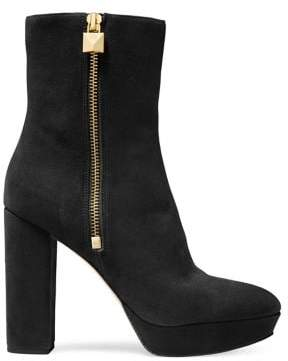 MICHAEL Michael Kors Frenchie Heeled Suede Booties