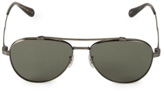 Oliver Peoples RS20 56MM Rikson Polarized Aviator Sunglasses