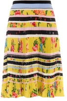 Mary Katrantzou Fontaine Lemon Blossom-print pleated skirt