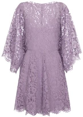 Valentino boatneck lace minidress