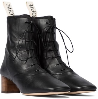 Loewe Lace-up leather ankle boots