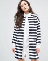 Helene Berman Cocoon Zip Front Coat