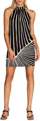 Trina Turk Charm Striped Halter Dress