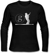 JACKMOUSERICE Women's Garth Brooks Logo Platinum Style Long Sleeve T Shirt