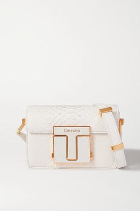 Tom Ford 001 Small Python Shoulder Bag - White