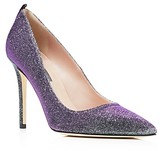 Sarah Jessica Parker Fawn Metallic Glitter Pointed Toe High Heel Pumps - 100% Exclusive