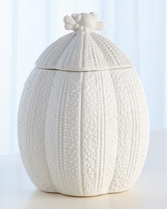 Global Views Urchin Bisque White Pot