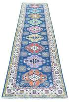 """Blue Area One-of-a-Kind Cuyama Southwestern Hand-Knotted Runner 2'8"""" x 10' Rug Isabelline"""