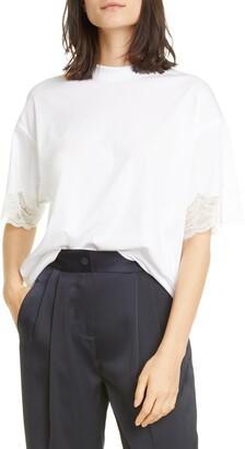ATM Anthony Thomas Melillo Lace Trim Oversize T-Shirt