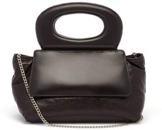 Lemaire Cabas Mini Leather Cross-body Bag - Womens - Dark Brown