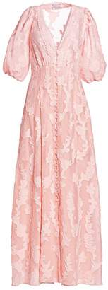 Tanya Taylor Ariela Burnout Floral Maxi Dress
