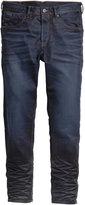 H&M Tapered Low Jeans - Dark denim blue - Men