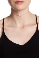 Argentovivo 18K Gold Plated Sterling Silver 'N' Initial Heart Choker Necklace