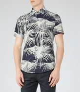 Reiss Mccawly - Palm Print Shirt in Blue, Mens