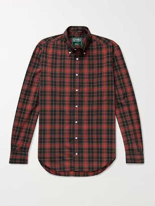 Gitman Brothers Slim-Fit Button-Down Collar Checked Cotton-Poplin Shirt