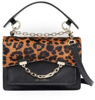 Karl Lagerfeld Paris Leopard Print K Seven Crossbody Bag