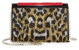 Christian Louboutin Vanite Small Leopard Fringe Chain Clutch