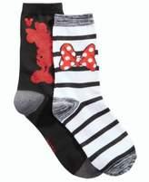 Disney Women's 2-Pk. Boxed Minnie Mouse Crew Socks