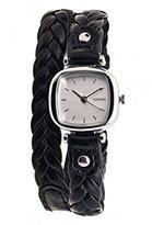 Komono Women's KOM-W1231 Moneypenny Woven Series Analog Display Japanese Quartz Black Watch
