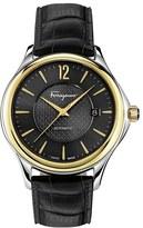 Salvatore Ferragamo 'Time' Automatic Leather Strap Watch, 41Mm