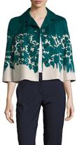 Prada Cotton Printed Cropped Jacket