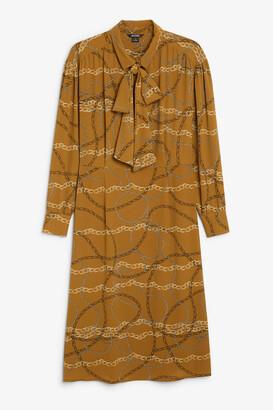Monki Tie neck dress
