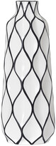 Torre & Tagus Abstract 15.5In Lattice Outline Ceramic Vase