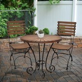 Rayne Solid Wood Bistro Table August Grove