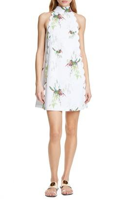 Ted Baker Toriat High Neck Floral Print Dress