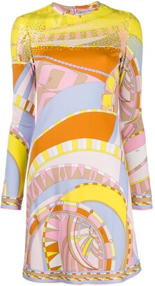 Emilio Pucci Sequin-Embellished Abstract-Print Dress