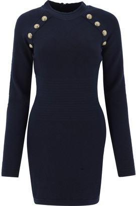 Balmain Button Embellished Bodycon Dress